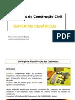 Materiais de Construcao Civil - Materiais Ceramicos