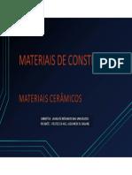 6 Materiais de Construção Cerâmica