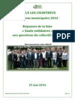 Saulx Solidaires Réponses Collectif Citoyen