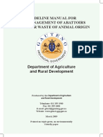 Guideline Manual for the Management of Abattoirs
