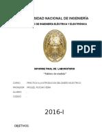 Informe de Introduccion medidas electricas