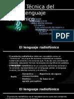 Teoría y Técnica Del Lenguaje Radiofónico