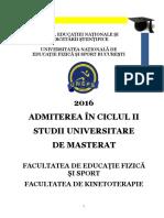 Brosura Admitere Masterat 2016 Bucuresti