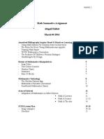 math summative assignment