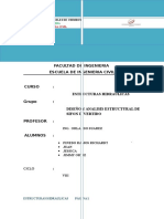 Analisis Estructural de Un Sifon