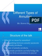 Different Types of Annuities