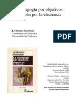 SACRISTAN Gimeno, La Pedagogia Por Objetivos - (Cap. 2)