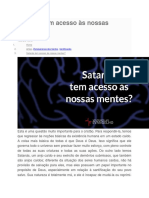 Satanás Tem Acesso Às Nossas Mentes
