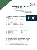 Evaluacion Ingles II