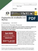 Paginación de Resultados Con PHP y MySQL