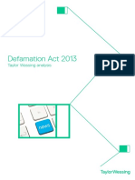 The Defamation Act 2013