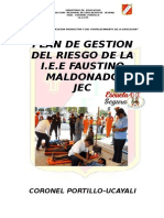 Plan Del Riesgo