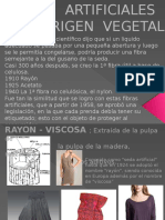 FIBRAS  ARTIFICIALES   DE  ORIGEN  VEGETAL