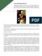 Biografia de Juan Antonio Álvarez de Arenales
