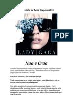 Entrevista de Lady Gaga na Bizz