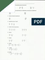 Examen Matemáticas Fracciones 1º ESO