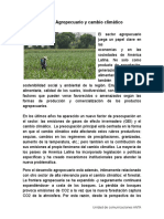 Agropecuaria y Cambio Climático