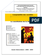 Constitution de La SARL Copie