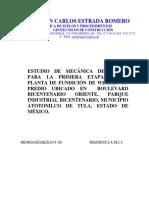 d2014-138. Planta Fundicion Weg Mecanica de Suelos 2014 138