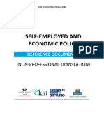 SELF-EMPLOYED AND ECONOMIC POLICY