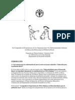 Un Compendio de Experiencias de Las Organizaciones No Gubernamentales Italianas