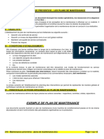 218 - Maintenance Préventive - Plans de Maintenance