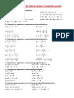trabajo ecuaciones y sistemas 3 eso