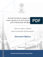 Taller de Análisis y Reflexión Sobre La Evaluación Del Desempeño...
