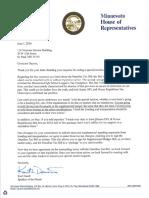 Letter from Speaker Daudt to Gov. Dayton 06/01/2016