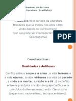 Resumo Do Barroco (Literatura Brasileira) - Resumos de Literatura Brasileira