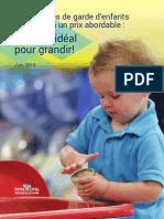 Des services de garde d'enfants de qualité à un prix abordable