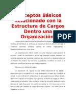Conceptos Básicos Relacionado Con La Estructura de Cargos Dentro Una Organización