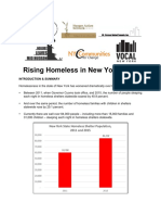 Rising Homeless in New York State 2016