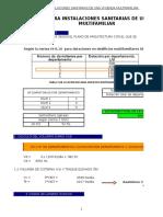 Copia de 149189945 Trabajo de Sanitarias Calculo de Tuberias Xls