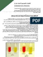 الإختبارات الكيموحيوية للتعرف على البكتريا