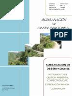 Subsanacion de Observaciones IGAC