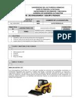 Informe Formato Aquinaria Pesada - Mini Cargadora(1)