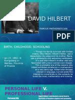 david hilbert finished
