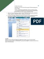 Une Page Au Format Paysage Dans Un Document