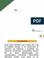 i Unidad Derecho Minero (IV Semana)