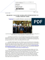 BRABENEC CALLS FOR 'LEGISLATIVE INTERVENTION' TO COMBAT HEROIN CRISIS