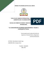 084 La Comercialización de Pitahaya Desde Pichincha Ecuador y La Demanda en Francia - Castillo Tapia, Yadira