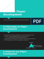 Player Development Philosophy Presentation