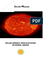 Different Applications of Solar Energy Rural Areas