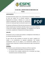 Normativa de Uso Del Laboratorio de Mecanica de Patio