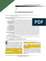 Variations in Opioid Responsiveness