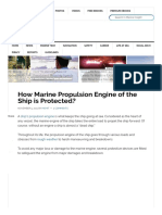 How Marine Propulsion Engine of the Ship is Protected
