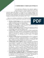 carta de respaldo y compromiso público