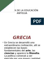 Historia de La Educaciòn Antigua