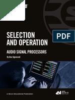 Audio Signal Processors Seleccion and Operation